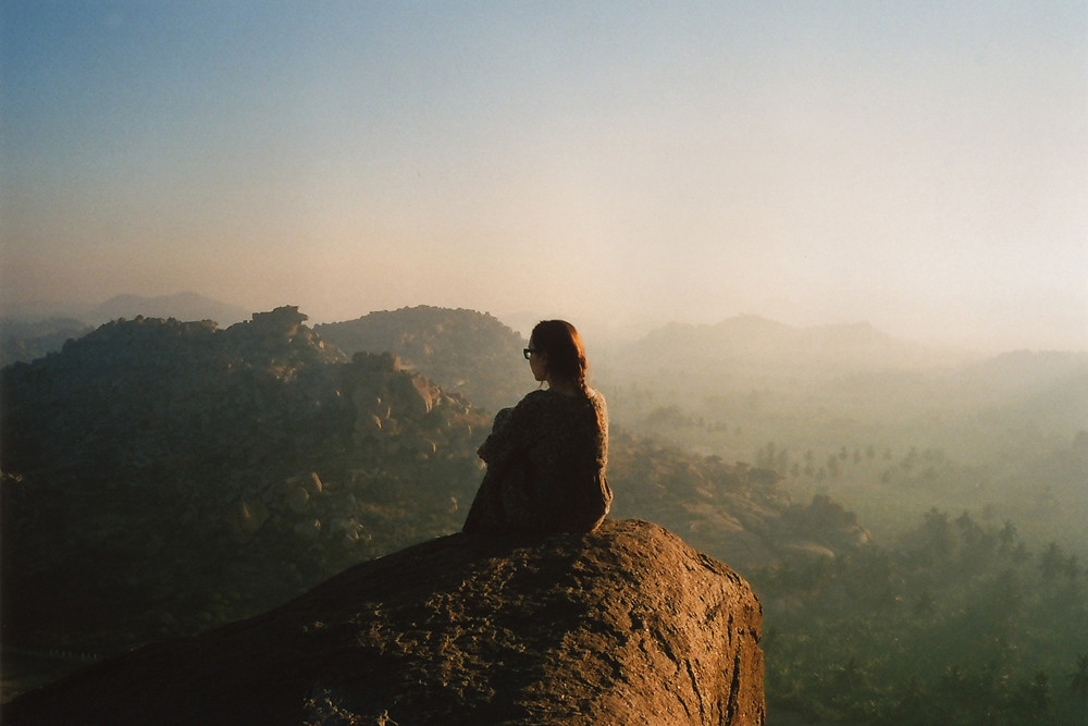 LE LOVE BLOG LOVE STORY PHOTO IMAGE GIRL WOMAN LOOKING THINKING CANYON TOP OF MOUNTAIN SUNSET SUNRISE AND NOW I'LL DO WHAT'S BEST FOR ME by Helen Korpak, on Flickr