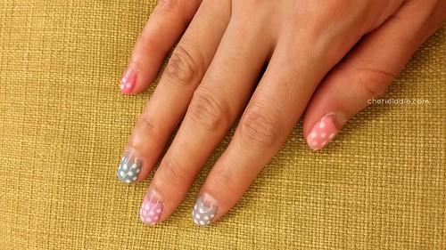 multi-coloured manicure