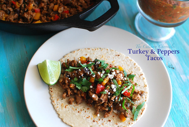 Turkey & Peppers Tacos