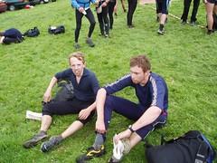 Ian and Jim at the finish Image