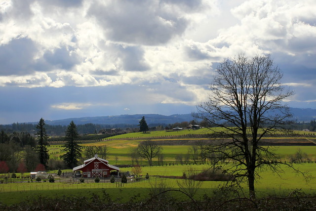 Spring farmscape flickr photo sharing - Beautiful panoramic view house to take full advantage of the scenery ...