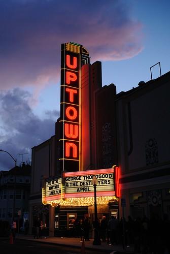 california ca sunset marquee theater neon napa artdeco napaca uptowntheatre