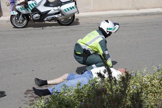 Simulacro accidente tr fico y atropello la joyosa - Guardia civil trafico zaragoza ...