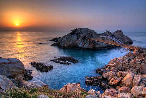 nature sunrise asia day korea clear cherryblossoms southkorea hdr ulsan koreanphotography