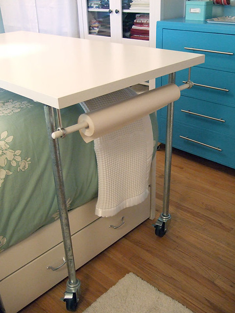 rolling over-the-bed craft table : Flickr - Photo Sharing!