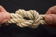 hand, knot, close-up, rope,