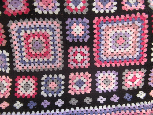 black crochet blanket by fishoseven