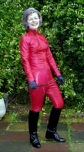 Red Leather Lady Tony Byers Flickr