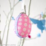 Hanging Découpage Eggs