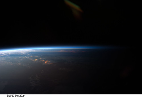 Sunset Over Western South America (NASA, International Space Station, 04/12/11) [Explored]