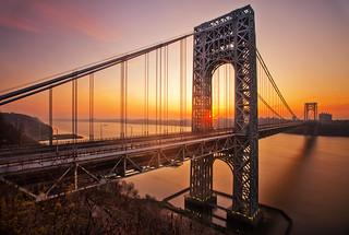 The George Washington Bridge at Sunrise