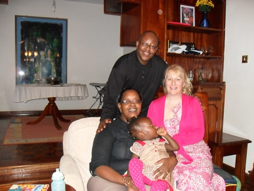 With dear friends Michael and Winnie Kibinge and their lovely family