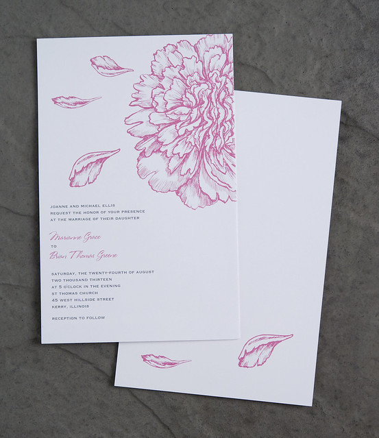 Vistaprint Invitations Wedding: Vistaprint Wedding Invitation - Pink Flowers #1
