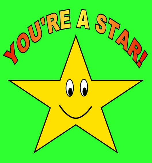 You're a Star on green clipart sketch , 15 cm | Flickr ...