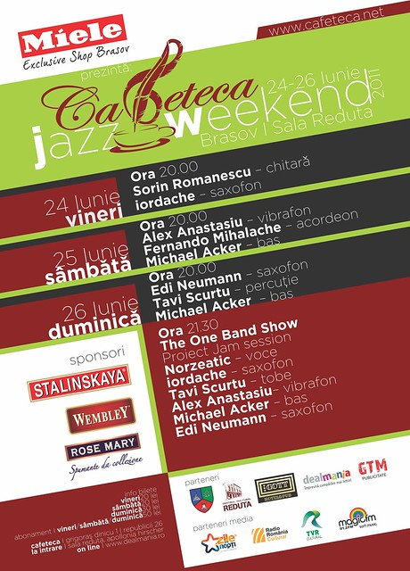 Afis cafeteca jazz weekend