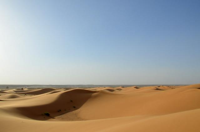 Dunas del desierto de Erg Chebbi