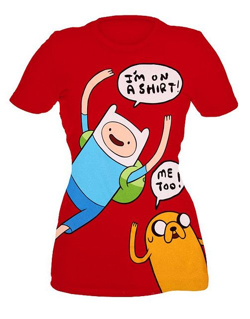 Adventure Time Finn And Jake On A Shirt Girls T-Shirt