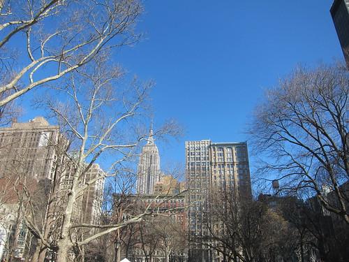 Empire State Building desde Madison Square Park, NYC. Nueva York
