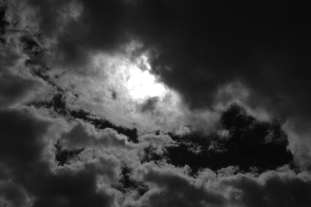Clouds in Dark Moody Sky