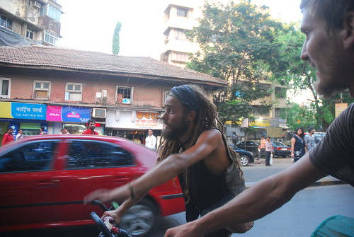 Croatian Backpackers Cyclists In Mumbai