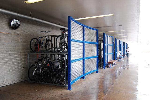 high-density bike parking