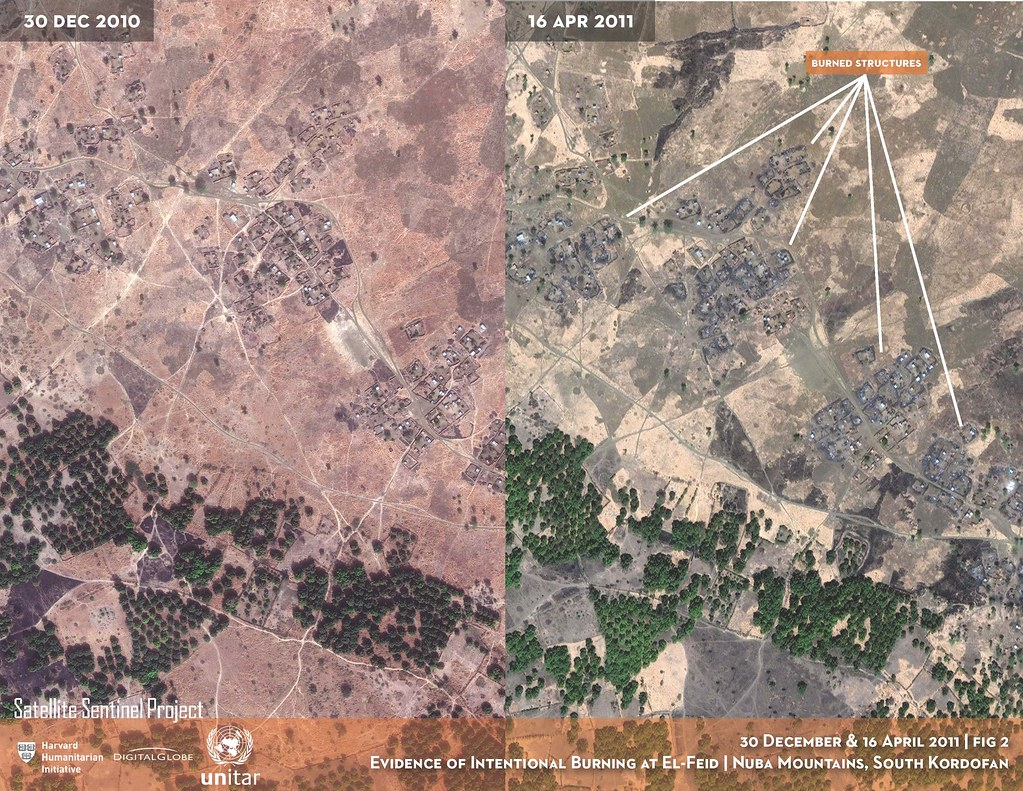 Evidence of intentional burning at El Feid South Kordofan