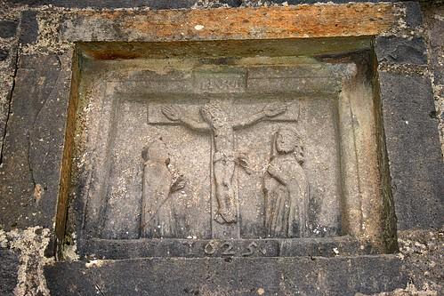 ireland church carving inri connacht turlough calvary goodfriday roundtower comayo crucifixtion 1625
