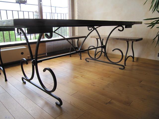 Embase de table en fer forg flickr photo sharing - Table chaise fer forge ...