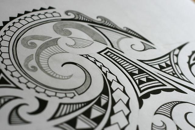 Maori Wave Tattoo: Photo-maori-tattoo-design-images