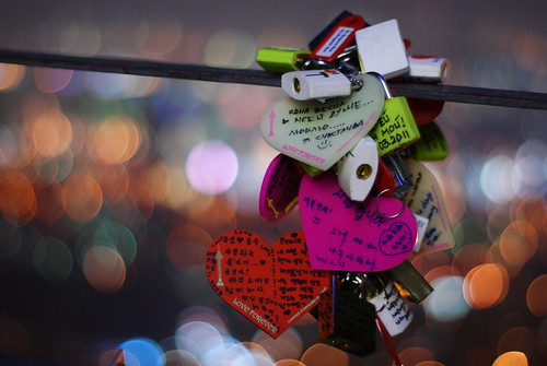 Bokeh Love Padlocks