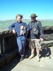 Hannahs first trip to Stoodley Pike.