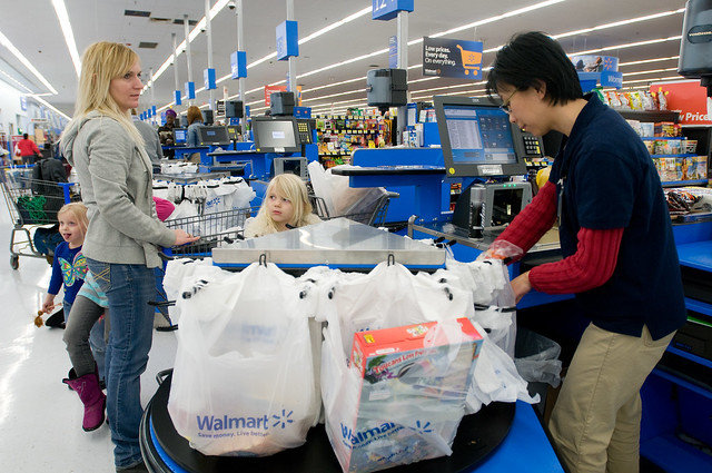 Walmart Grocery Checkout Line in Gladstone, Missouri