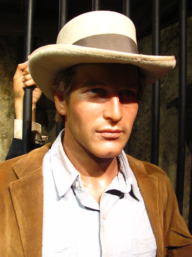 Paul Newman/Butch Cassidy figure at Madame Tussauds Hollywood