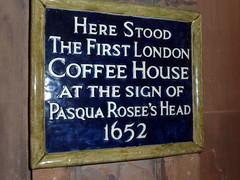 Photo of Pasqua Rosee's Head blue plaque