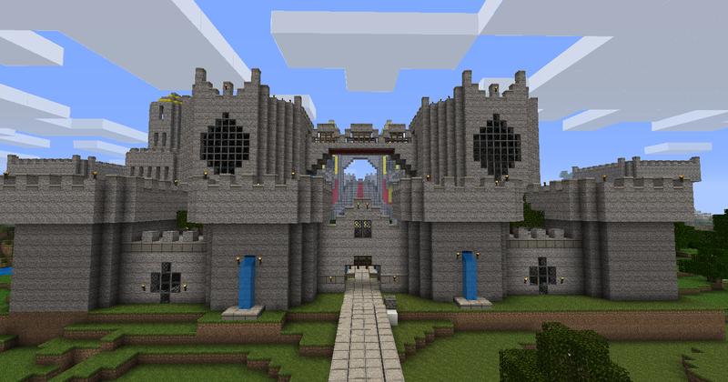 Картинки замков в майнкрафте поэтапно