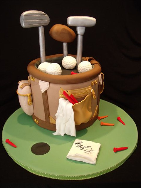 Golf bag cake Flickr - Photo Sharing!