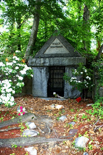 Walt Whitman Tomb in Spring
