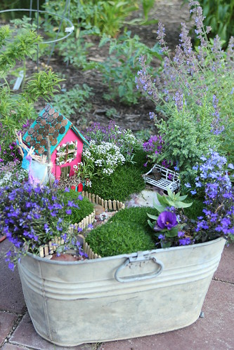There are fairies living in the garden home burgh baby for Fairy garden pot ideas