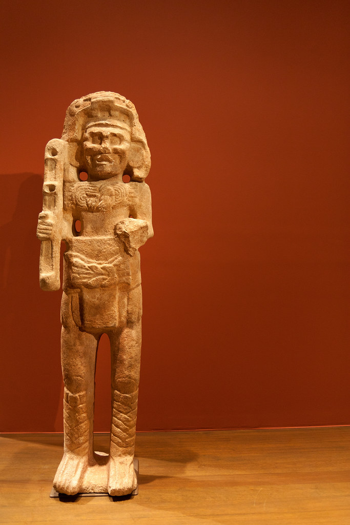 Chahk: Deity of rain, thunder & lightening. Mexico 9th Century.  Looks like this little Chap's upset his neighbour.............  The Metropolitan Museum allows photo shooting providing there is no financial gain.  Please respect their policy