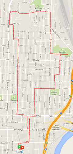 Today's awesome walk, 5.54 miles in 1:41 by christopher575