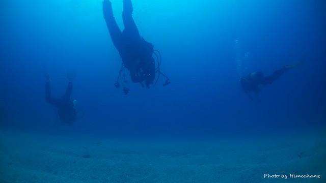 竹富島の砂紋がキレイなところで遊泳♪