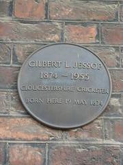 Photo of Gilbert Jessop bronze plaque