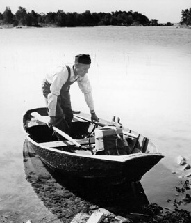 Rural delivery in Stockholm archipelago, 1963