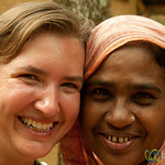 Audrey and Mother of the House - Outside Srimongal, Bangladesh