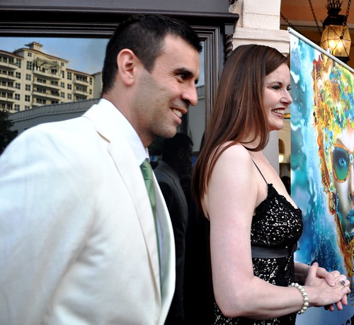 Academy Award Winning Actress Geena Davis and Husband Dr. Reza Jarrahy, Sarasota Film Festival, April 16, 2011