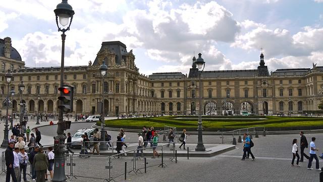P1090014 france paris le louvre le jardin du carrousel for Le jardin du quai