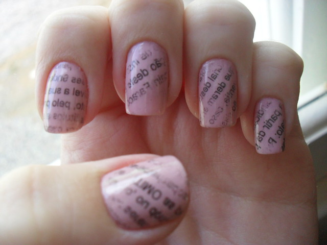 Nail Arts Newspaper Nail Art Designs
