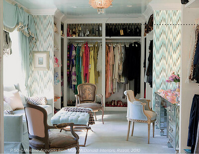 Walk In Closet Combination Of Relaxing Zone And Closet