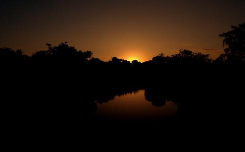 africa sunset costa reflection river bush shadows da humanitarian mozambique maganja