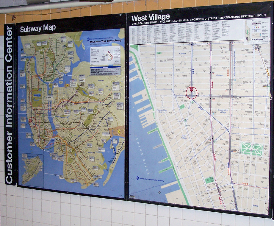 Nyc Subway Neighborhood Map West Village New York City Sub Flickr